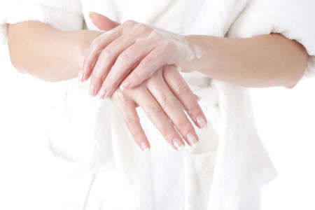 woman - hand - moisturizer Stock Photo - 4541801