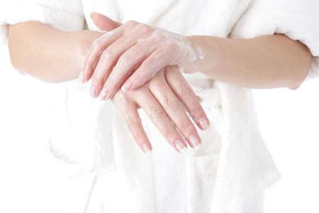 woman - hand - moisturizer Stock Photo - 4541801