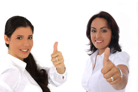 busineswoman showing thumbs up gesture photo