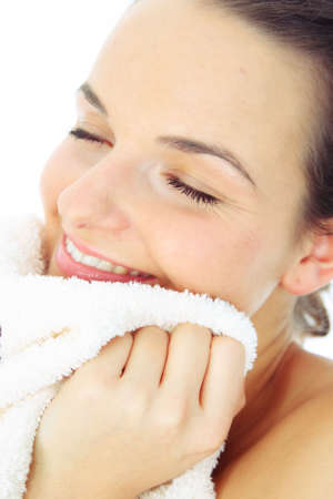 wellbeeing: girl with towel