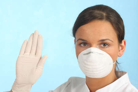 stop poison, doctor showing gesture photo