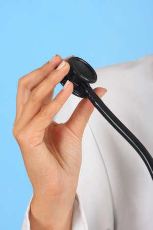 surgent: doctor holding stethoscope Stock Photo