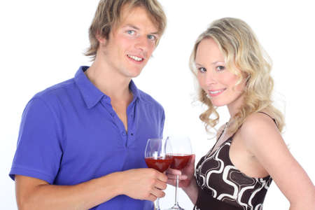 contentedness: couple with redwine