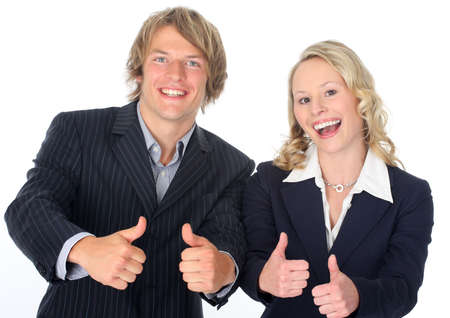 thumbs up - dynamic businessteam  photo