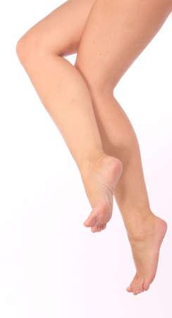 pies bonitos: lindos pies - piernas Foto de archivo