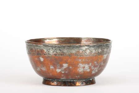bronze bowl: a bowl made of copper - bronze