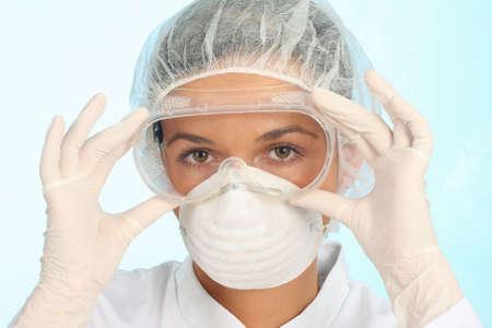 setting up protective workwear photo