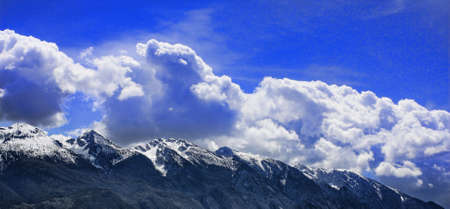 mountains and clouds background Stock Photo