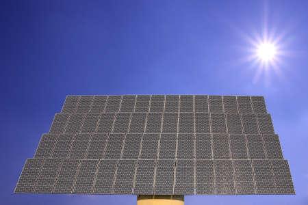 voltaic: solar panel - photo voltaic power plant and sun