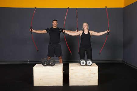 Fitness using a swing stick
