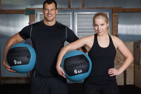 Cross fit - fitness with medicine ball