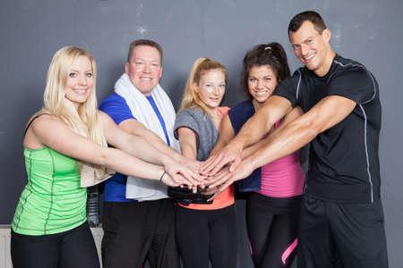 ensemble mains: Fitness personnes - mains Banque d'images