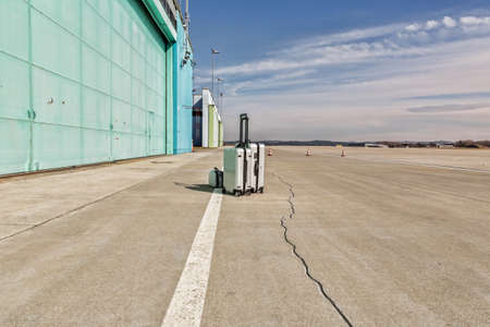 lonley: lonley luggage on the runway