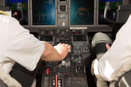 accelerate: airplane cockpit accelerate
