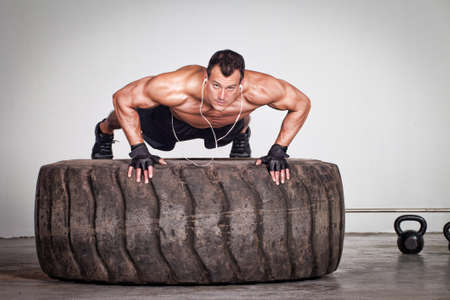 amortization: Push up on a tire crossfit workout