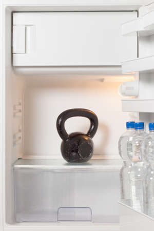 amortization: Crossfit fitness diet - kettlebell in a refrigerator- the new diet plan