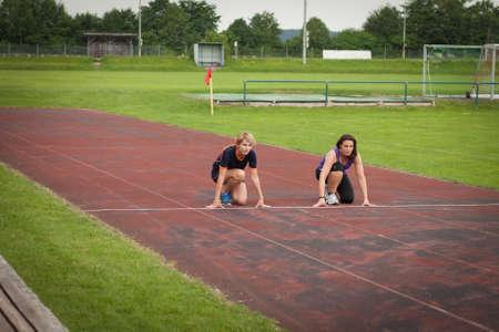 racecourse: woman jogging outdoor on a racecourse