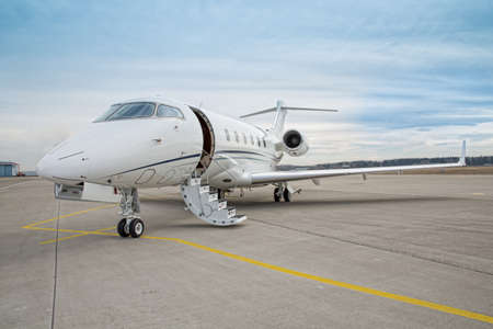 corporate private jet - plane Stock Photo