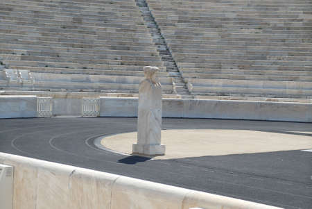 olympic sports: Old Marble Stadium with Statue