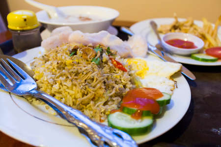 kampung: Nasi Goreng Kampung Stock Photo