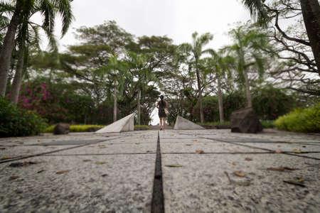 Espacio abierto en el parque Foto de archivo - 54149171
