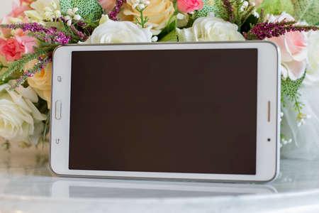 tab: Tab phone screen Stock Photo
