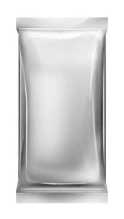 silver foil: aluminum foil bag package Stock Photo