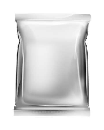foil: aluminum foil bag package Stock Photo