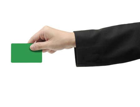 member: hand holding green card
