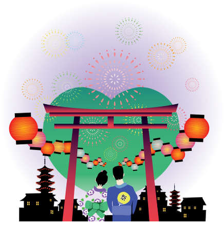 japanese summer festival vector graphic Stock Vector - 10129527