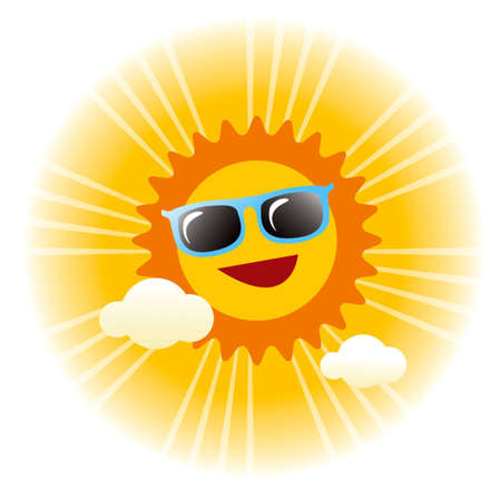 sunlit: summer sunny day vector graphic