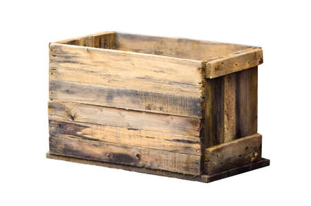 crate: old wooden box