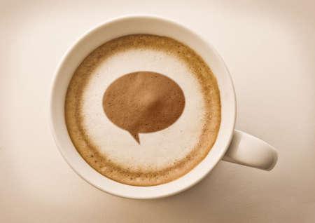 balloon word coffee art Stock Photo