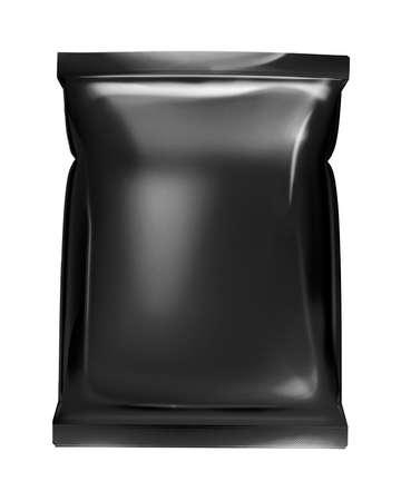 foil: foglio di borsa nera Archivio Fotografico