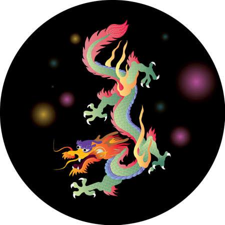 dragones: DRAGON gr�fico vectorial, el drag�n chino para el nuevo a�o