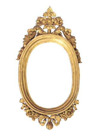 priced: golden oval shape frame