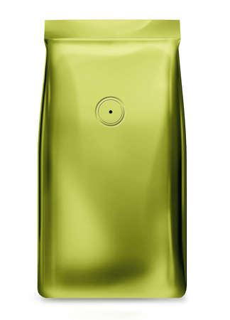 light green foil bag with valve photo