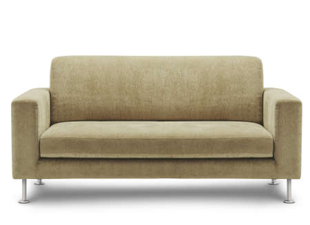 couch: sofa furniture isolated on white background Stock Photo