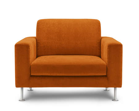 sandalye: kanepe mobilya, beyaz zemin üzerine izole Stok Fotoğraf