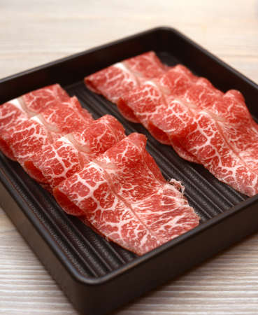 raw meat for sukiyaki Stock Photo - 16658129