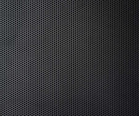 black metallic honeycomb grid texture pattern photo