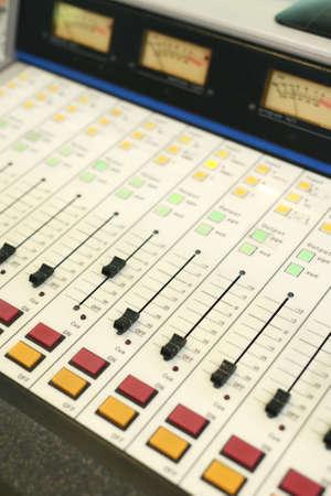Analogue control sound mixing board Stock Photo - 17953823