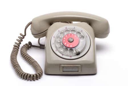 old style telephone isolated on white background Stock Photo - 17817810