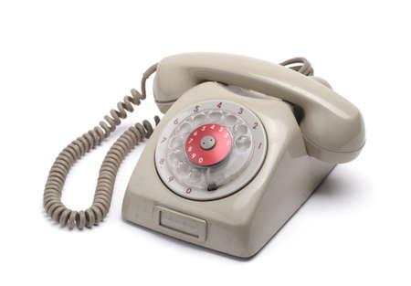 old style telephone isolated on white background Stock Photo - 17817805