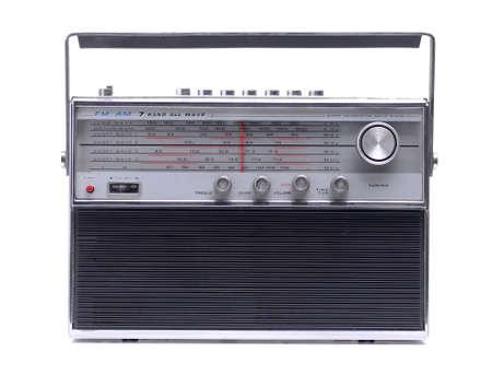 goldy: vintage radio antique isolated on white background Stock Photo