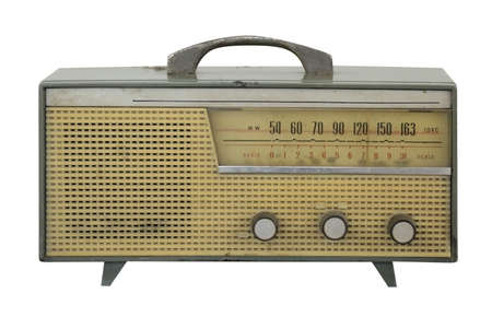 vintage radio antique isolated on white background Stock Photo - 18621895