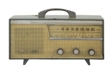 vintage radio antique isolated on white background Stock Photo - 18621895