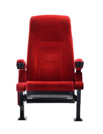 silla: butaca aislada en el fondo blanco, asiento de la película