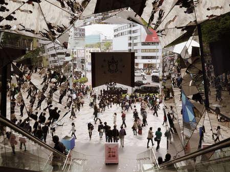 omotesando:  TOKYO JAPAN - APRIL 19   Omotesando Tokyo Plaza building on April 19, 2014 in Tokyo, Japan  Tokyo Plaza is new shopping center for teenage on Omotesando                      Editorial