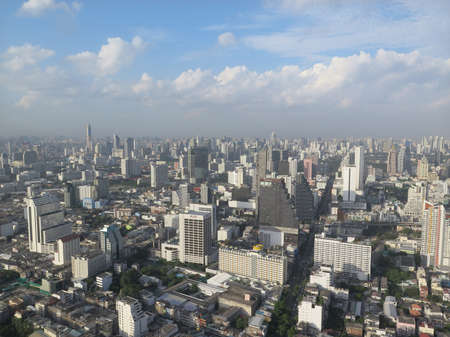 Bangkok downtown view from high angle